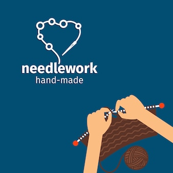 Needlework kids handmade