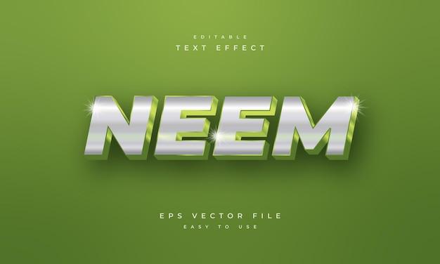 Neem editable 3d text effect