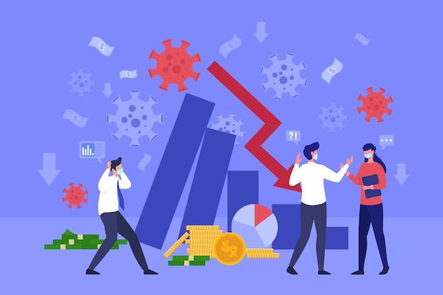 Impatto negativo sull'economia a causa del virus