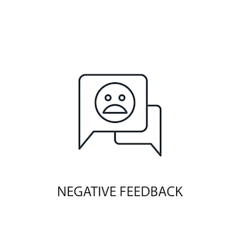 Negative feedback concept line icon. simple element illustration. negative feedback concept outline symbol design. can be used for web and mobile ui/ux