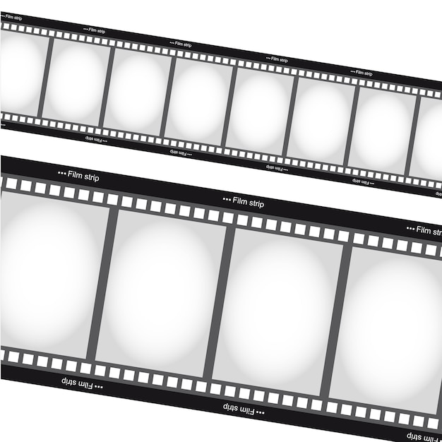 Negative films tripes over white background vector