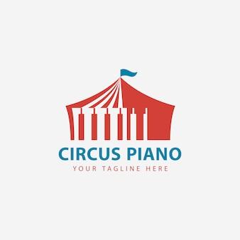 Цирковое пианино negative space logo