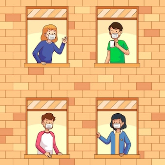 I vicini sul concetto di balconi