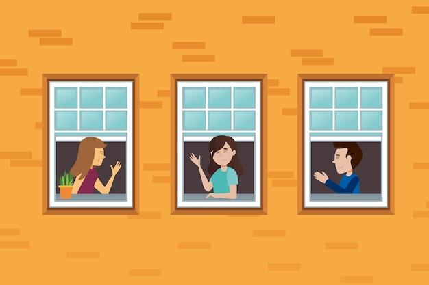 I vicini su windows in quarantena
