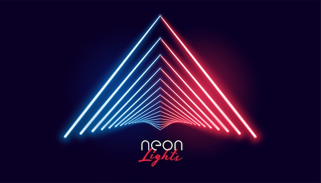Nelights geometric shape in red and blue color