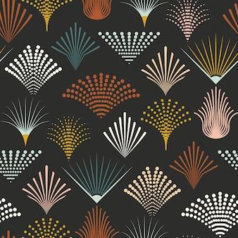 ネオアールデコのシームレスパターン