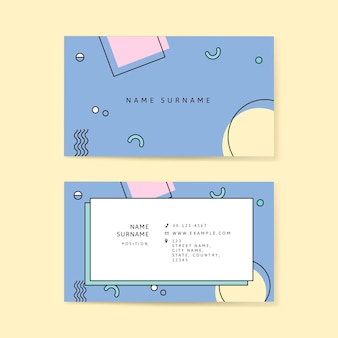 Neo memphis business card template