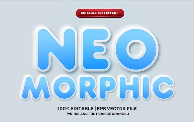 Neomorphic 3d emboss neomorphisme blue modern future editbale text effect