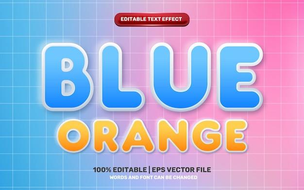 Neomorphic neomorphisme 3d orange blue emboss modern future editable text effect