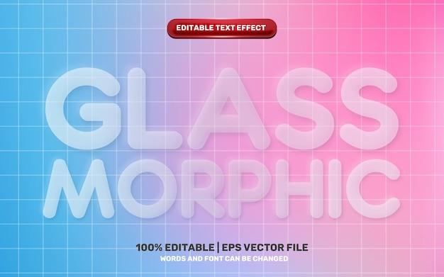 Neomorphic neomorphisme 3d white glass transparent modern future editable text effect