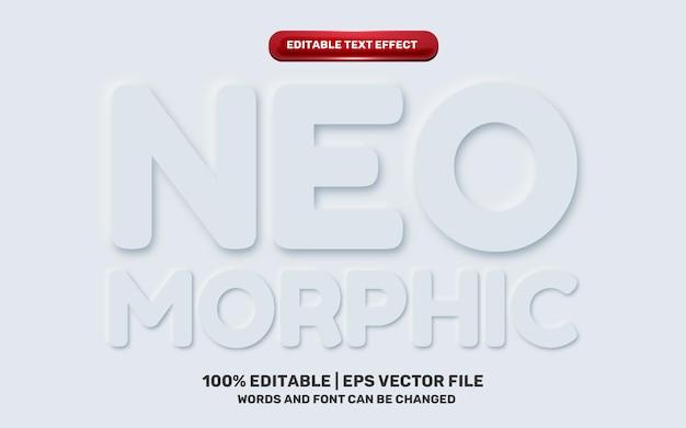 Neomorphic neomorphisme emboss 3d simple white modern future editable text effect