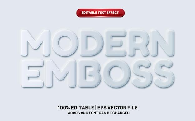 Neomorphic neomorphisme modern emboss 3d simple white modern future editable text effect
