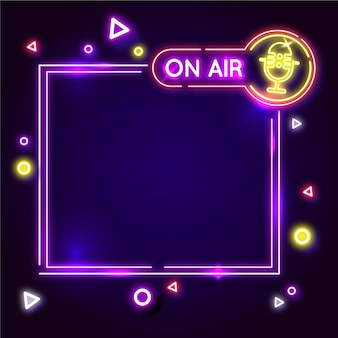Neon on air frame illustration