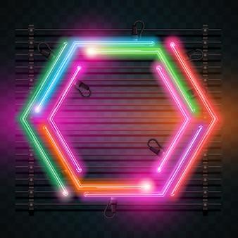 Neon background design