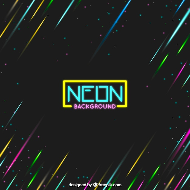 Neon Background With Colored Lights