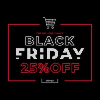 Neon black friday banner
