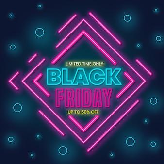 Neon black friday concept