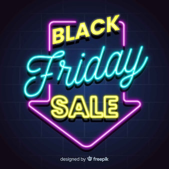 Neon black friday sale banner