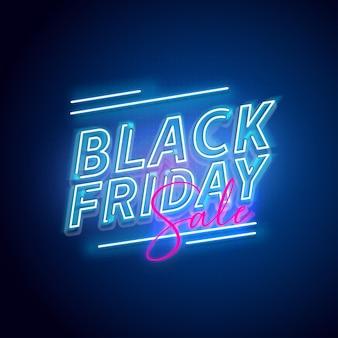 Неоновая распродажа черная пятница