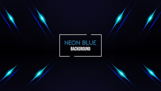 Neon blue color background