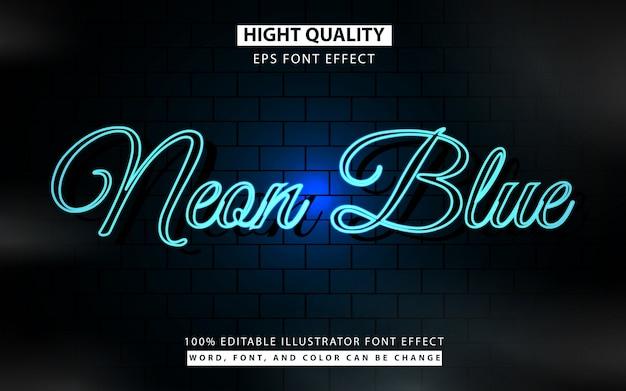 Неоново-синий стиль текста