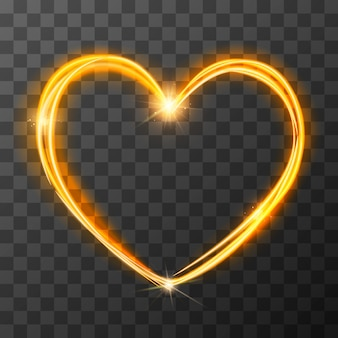 Neon blurry love symbol