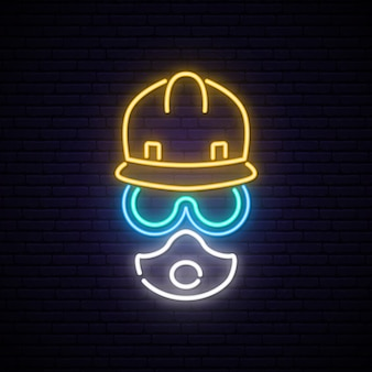Neon builder sign.