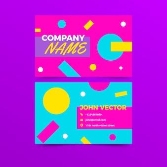 Modello di biglietto da visita al neon
