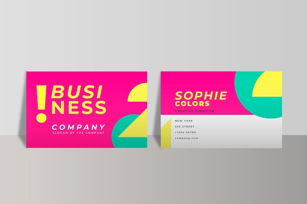 Neon business card template