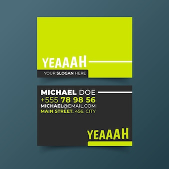 Neon business card theme