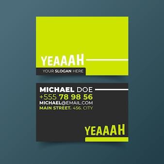 Neon business card theme