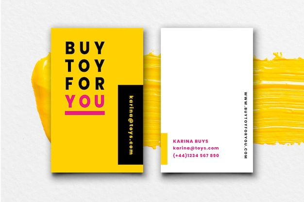 Neon business cards concept