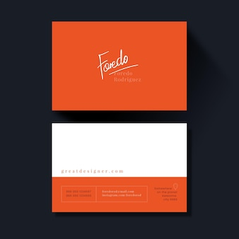 Neon business cards set