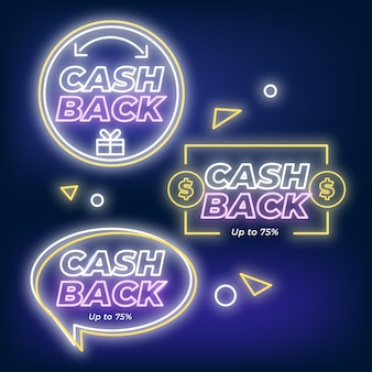 Neon cashback sign collection