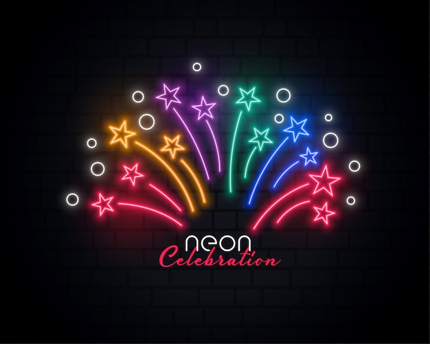 Neon celebration background