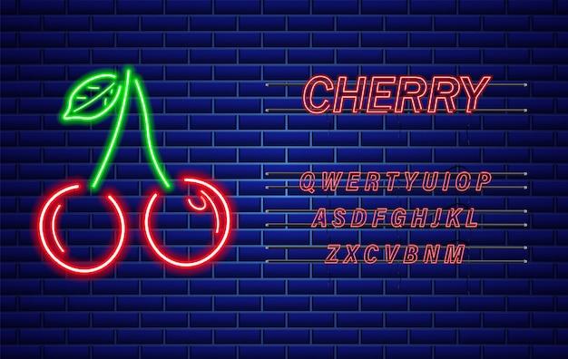 Neon cherry sign