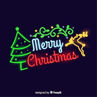 ネオンのクリスマスの背景