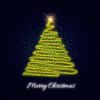 ネオンクリスマスツリーテンプレート