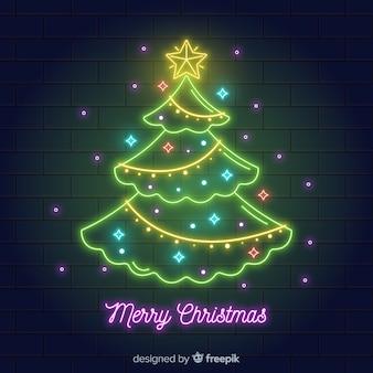 ネオンクリスマスツリー