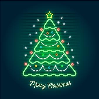 Neon christmas tree
