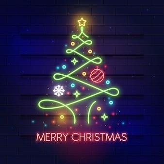 네온 크리스마스 트리