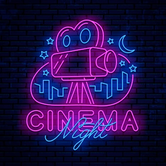 Neon cinema elements