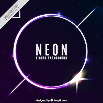 Неоновый фон круг