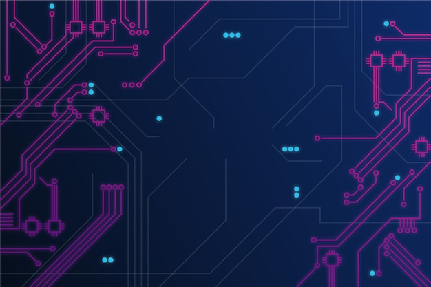 Neon circuit board background