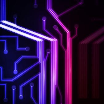 Neon circuit board.
