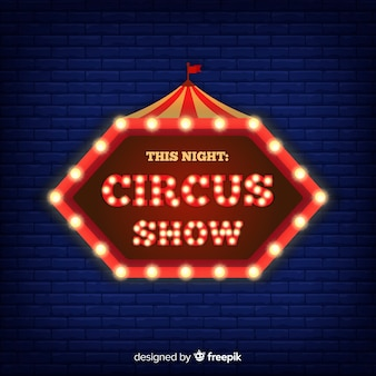 Neon circus sign background
