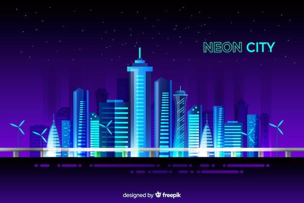 Neon city background