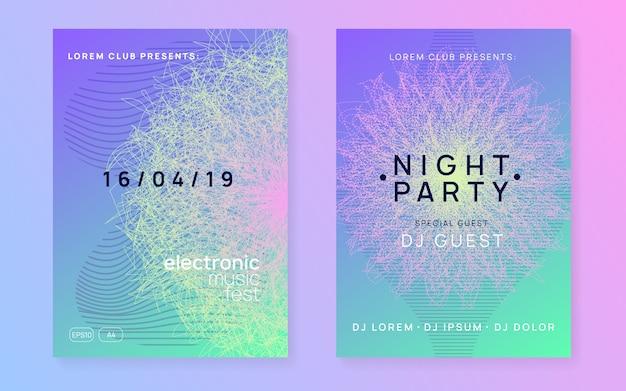 Neon club flyer.