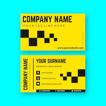 Neon color business card concept