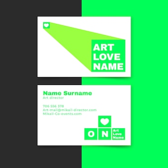 Neon color for business card style